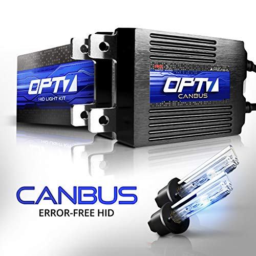 (OPT7 Boltzen AC CANbus H1 HID Kit - 5X Brighter - 6X Longer Life - All Bulb Sizes and Colors - 2 Yr Warranty [6000K Lightning Blue Xenon Light])