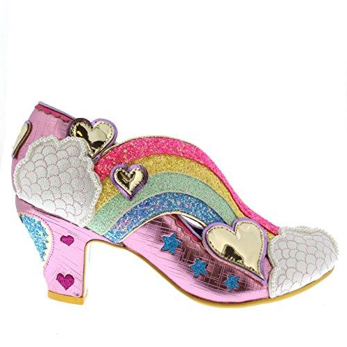 Irregular Choice Womens Summer of Love Glitter Rainbow Wedge Heels - Pink - 9.5 by Irregular Choice (Image #5)