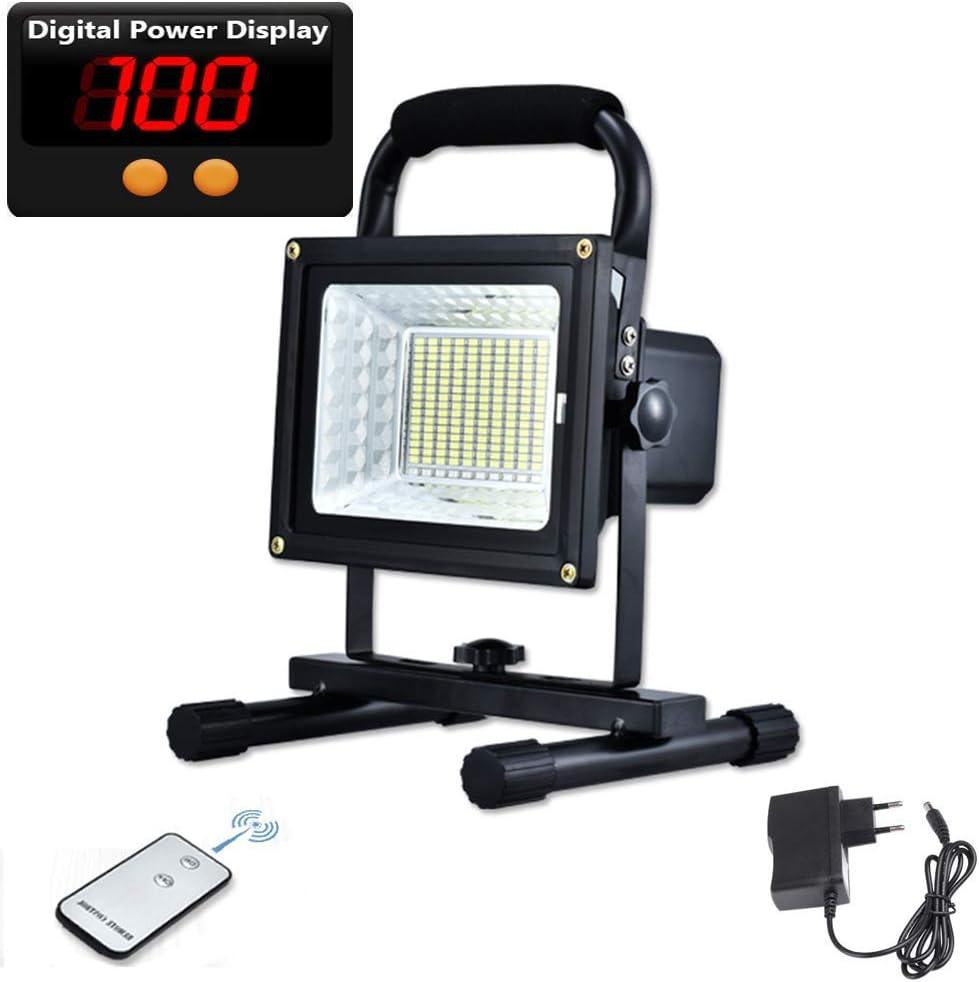 30W Projecteur Chantier LED Rechargeable 30W 1000LM Projecteur Portable avec Support Pliable Lamp de Travail Rotation /à 360/° pour Ext/érieur Camping P/êche Travaux Randonn/ée