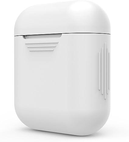 AirPods Cubierta de la caja Cubierta protectora de 360 ° para Apple AirPods Auriculares Apple AirPods Cubierta y piel para auriculares Blanco Color: Amazon.es: Electrónica