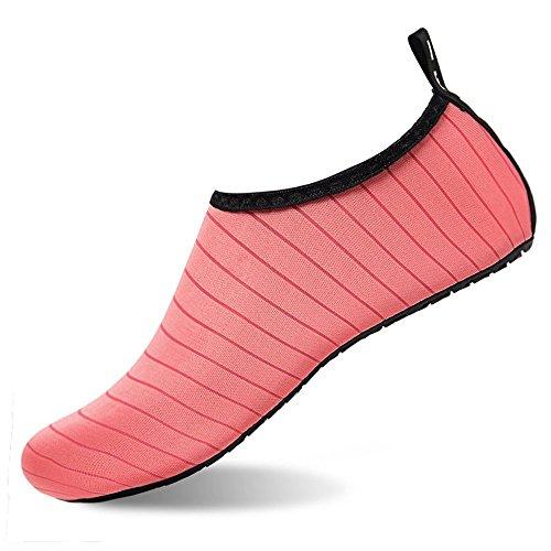Lger Durable Peau En Barefoot Semelle Chaussures Surf D'eau Rose Rapide Enfants Caoutchouc Baigner Aqua Femmes Plage Schage Plonge Hommes xxOvagqw6