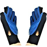 [IMPROVED VERSION] Pet Grooming Glove Brush Mit, Deshedding Tool for Removing Pet Hair, Pet Massage and Bathing - Brush Comb Mit for All sizes of Dogs, Cats and other Pets - Right and Left Glove