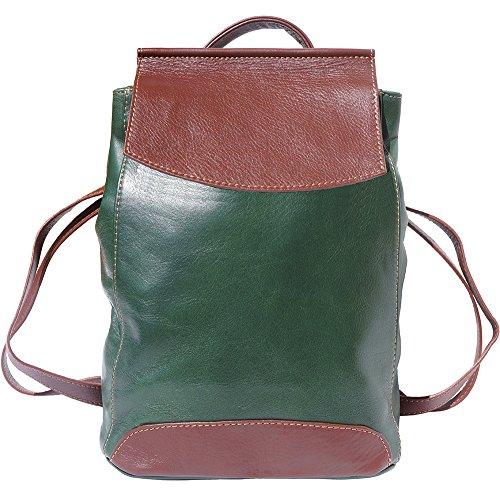 Lockme Florence Piel 2008 Leather Market marron Becerro En Bolsos Mochila De Verde wg6Sg7