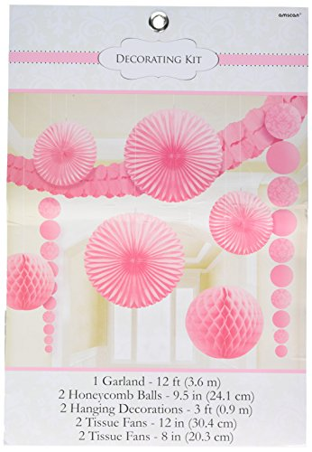 Classy Damask Party Decorating Kit, New Pink, Paper, Pack of 9 (Pink Decorating Kit)