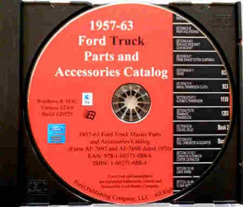 1957 1958 1959 1960 1961 1962 1963 FORD PICKUP F100 F150 F250 F350 F400 F500 BRONCO CLUB WAGON & TRUCK MASTER PARTS & ACCESSORIES CATALOG CD ()
