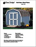 10' X 8' Barn/gambrel Storage Shed Project Plans -Design #31008