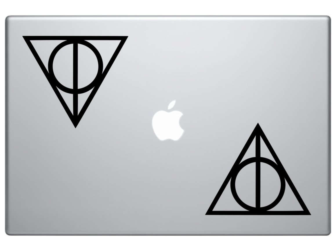 Amazon deathly hallows harry potter 2 stickers of 2 die amazon deathly hallows harry potter 2 stickers of 2 die cut vinyl car decal sticker for car window bumper truck laptop ipad notebook computer biocorpaavc