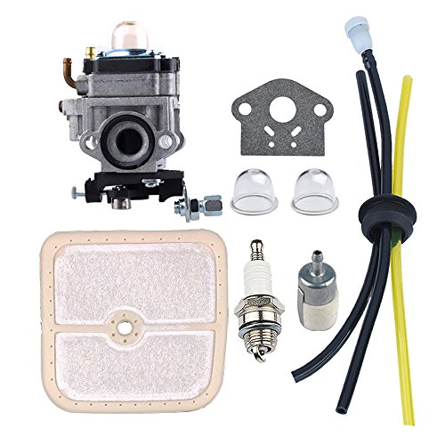 HIPA WYK-186 Carburetor with Air Filter Fuel Tune-Up Kit for ECHO HCA260 HCA261 PE260 PE261 PPT260 PPT261 SHC260 SHC261 SRM260 SRM261 Trimmer by HIPA
