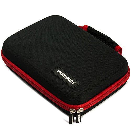 Black with Red Vangoddy Hard Case Suitable for Western Digital External Hard Drive WD Elements 2 TB Model WDBAAU0020HBK-NESN
