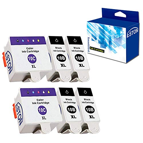 - ESTON Ink Cartridges for Kodak 10XLB 10XLC ESP 3250 5210 5250 (4Black 2Color)