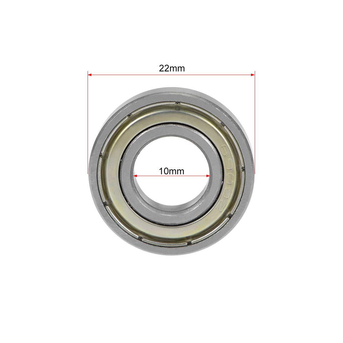 uxcell 638ZZ Deep Groove Ball Bearing 8x28x9mm Double Shielded Chrome Steel Bearings 1-Pack