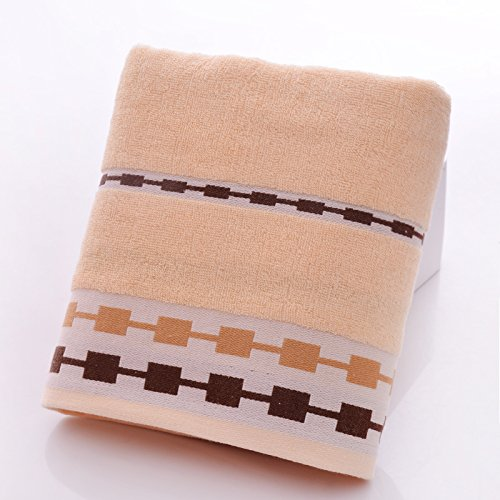 Reine Baumwolle Handtücher und Brust Baumwolle nach dicken weichen Wasseraufnahme von Paare Boxen Braun
