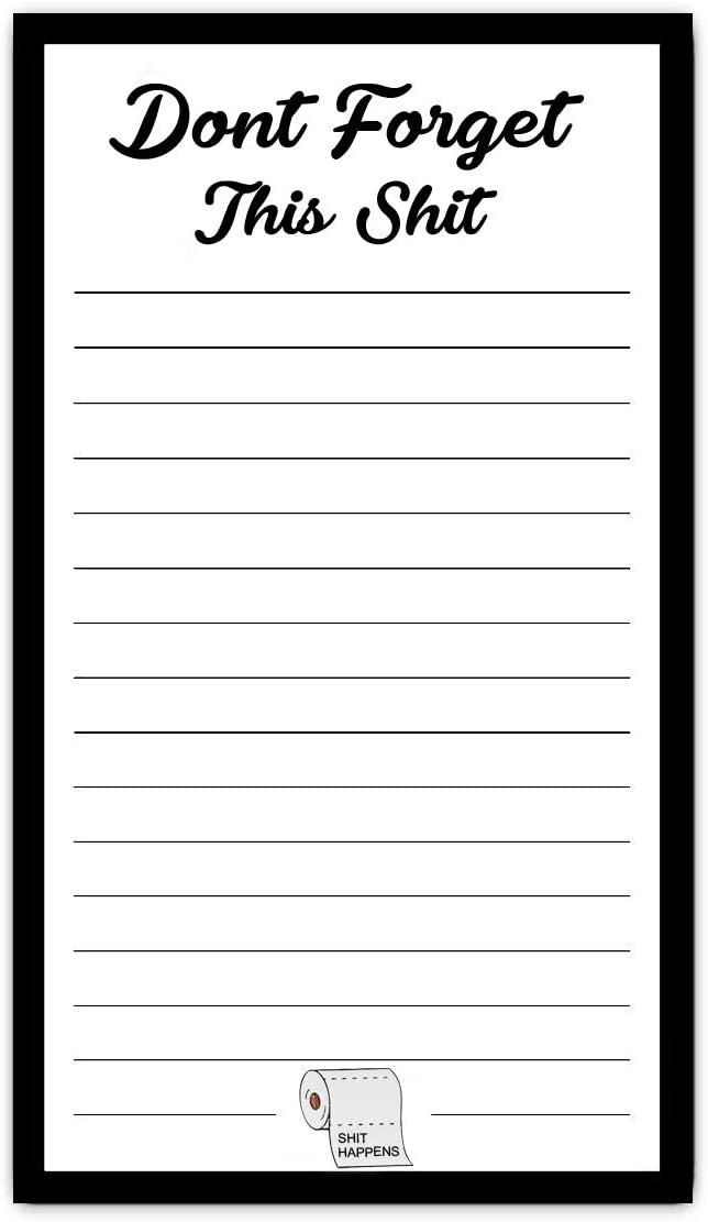 Full Magnetic Back To Do List Note Pad Funny Christmas Gift for Mom Gag Stocking Stuffers for Adults