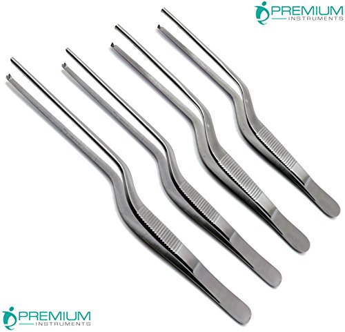 4 Pcs Adson Bayonet Kocher Forceps Tweezers Surgical Medical Dressing ENT Instruments