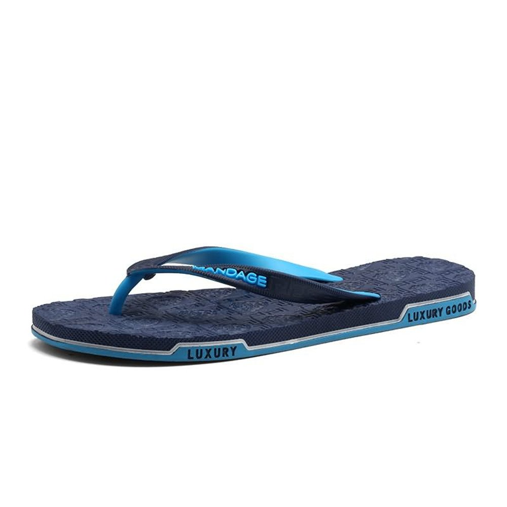 Men's Thong Classic Flip Flops Sandals Slipper Up to Size 10MUS (color   blueee, Size   9MUS)