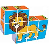 Agirlgle Magnetic 3D Puzzles for Kids Baby Toddlers Toys Learning Educational Toys Magic Cube Jigsaw Puzzle Games Building Blocks Kits Brain Teaser for Children Beginner Kids (9pcs Wild Animal)