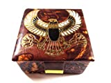 Egyptian HAND MADE FALCON HORUS Genuine Leather Jewelry Box Pharaoh ethnic l