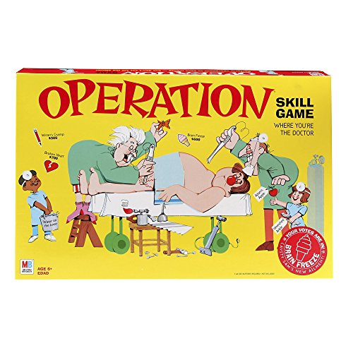 Operation Electronic Board Game With Cards Kids Skill Game Ages 6 and Up (Amazon Exclusive) -