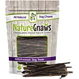 "Nature Gnaws Extra Thin Pork Bully Sticks 5-6"" (50 Pack) - 100% All-Natural Premium Dog Chews - for Small Breeds & Light Chewers"