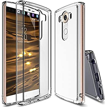 Ringke Fusion Compatible with LG V10 Case Crystal Clear PC Back TPU Bumper with Screen Protector Drop Protection, Shock Absorption Technology for LG V10 - Clear