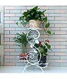 magic matels New Look Italian S Design Pots Stand - 3 Pots (White)
