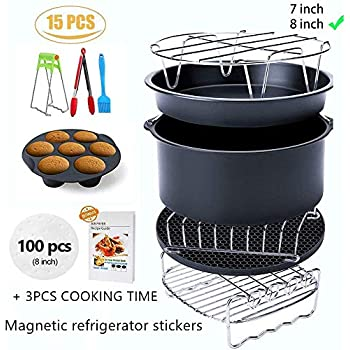Ptsaying Air Fryer Accessories XL 12 sets, For Phillips power air fryers dash oven deep Fryer Accessories nuwave ninja Gowise Air Fryer Accessories Fit all 4.2-6.8QT, air fryer liners