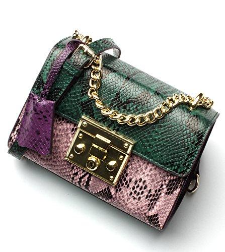 GUANGMING77 Single Schultertasche_Weibliche Chain Bag Schulter Tasche Tasche Green powder trR3hWtbv