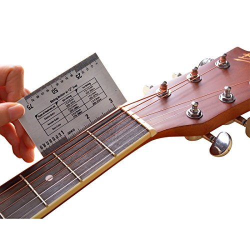bass guitars gauge ruler marrywindix string action ruler gauge tool for accurate measurement of. Black Bedroom Furniture Sets. Home Design Ideas
