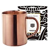 Copper Coffee Mug Stainless Steel Double Wall Camping Coffee Cups by Homestia for Hot or Cold Drink 14oz