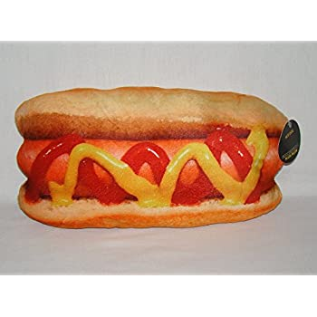 Amazon.com: Hot Dog Expressions Plush Pillow: Toys & Games