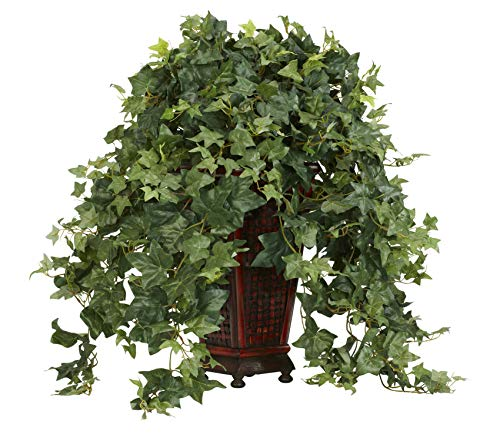 Artificial Plant -Vining Puff Ivy with Decorative Vase Silk Plant