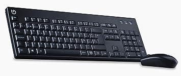 Hiditec | Pack Teclado Ratón Inalámbrico | KM400 Pro Nano Receptor | para Profesional | Keyboard sin Cables para PC portátil o sobre Mesa | Color Negro | Fabricados en España: Amazon.es: Electrónica