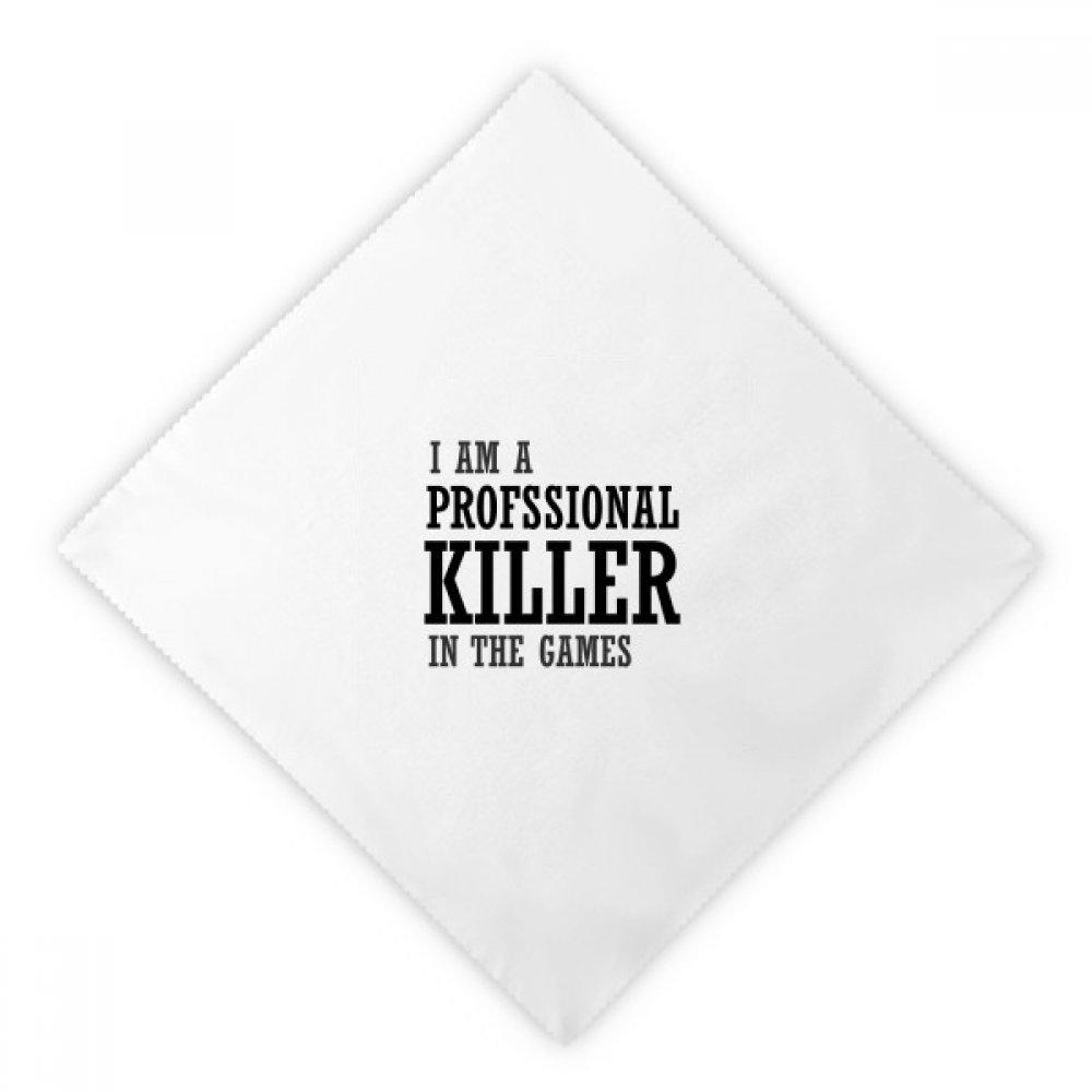DIYthinker Profesional Killer Games Dinner Napkins Lunch White Reusable Cloth 2pcs