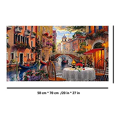 CJY Puzzle 1000 Pieces for Adult,City Landscape Pattern Large Jigsaw Puzzles Family Toys DIY Gifts Home Decor (Modern Building): Toys & Games
