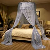 Mosquito Net Bed Canopy For 1.2-2m Bed Fly Insect Protection Indoor Decorative Height 280cm Top Diameter 1.2m Gray,2m