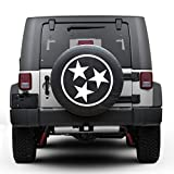 Tennessee tri star Tire Cover Fits 30''-32'' Tire (GRAY)