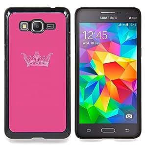 - Crown King Pink Brand Minimalist Design/ Duro Snap en el tel????fono celular de la cubierta - Cao - For Samsung Galaxy Grand Prime G530H G5308
