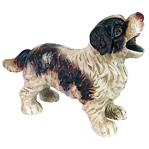 (Design Toscano Cavalier King Charles Spaniel Dog Mechanical Bank, 8.5 Inch, Full Color)