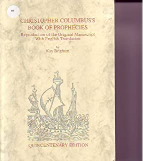 The Book of Prophecies, Edited by Christopher Columbus ...