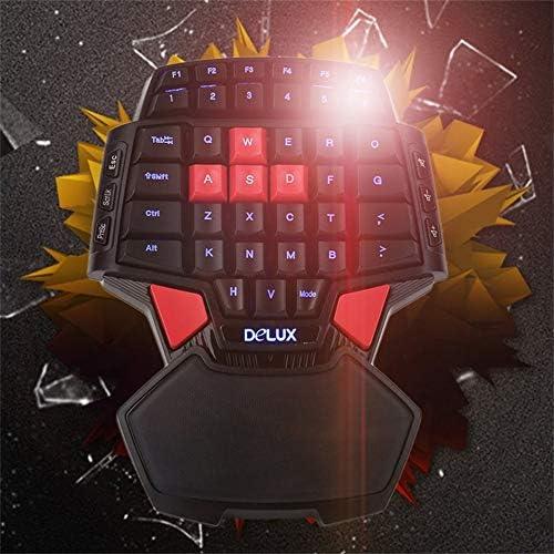 Keyboard T9 47 Keys Mini Professional USB Wired Gaming Keyboard Double Space Key One//Single Hand Gaming Keyboard