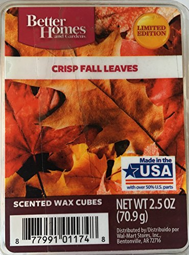 Fall Leaf Candles - Better Homes and Gardens Crisp Fall Leaves, Scented Wax Cubes, Pack of 3