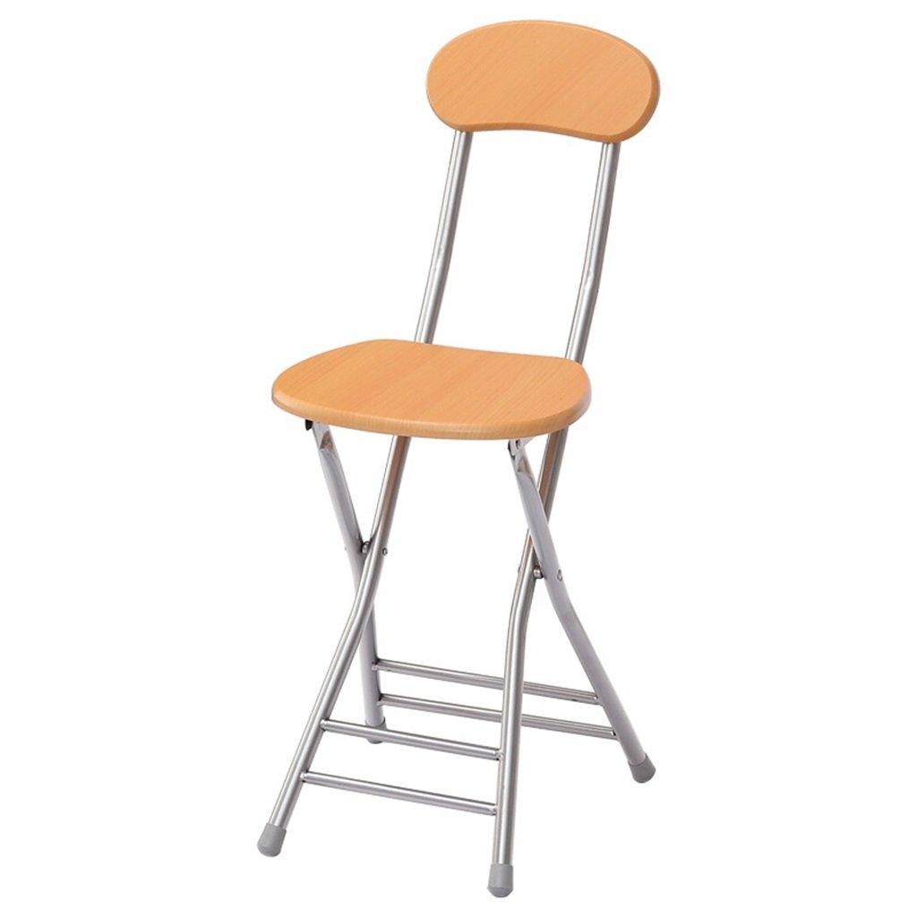 [定休日以外毎日出荷中] GzHスポーツ椅子折りたたみ椅子カジュアルシンプルホームポータブルコンピュータダイニング椅子 イエロー B07DCV4S5S B07DCV4S5S, キリブチ製麺:f7244809 --- cliente.opweb0005.servidorwebfacil.com
