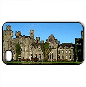 Ashford Castle - Case Cover for iPhone 4 and 4s (Medieval Series, Watercolor style, Black)