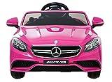 pink motor car - Mercedes Licensed Benz 63 AMG 6V Twin Motor Ride on Car Pink With Parental
