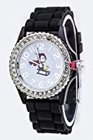 Chic Chelsea Penguin On A Sled Crystal Watch