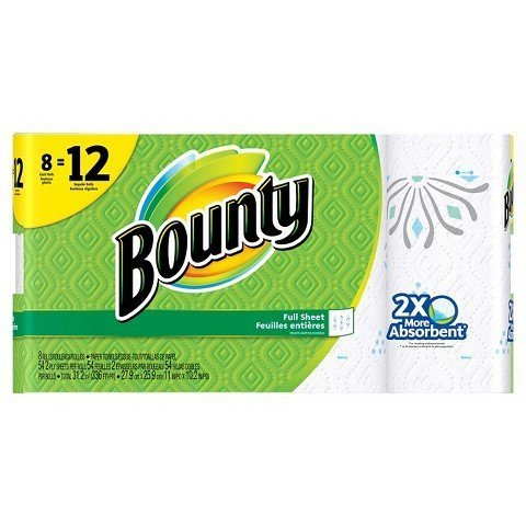 Giant Roll Paper Towels 8 Pack Print Full Sheet by Bounty