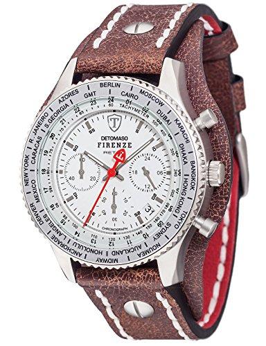 Detomaso Firenze Reloj De Pulsera Retro Con Cron 243 Grafo