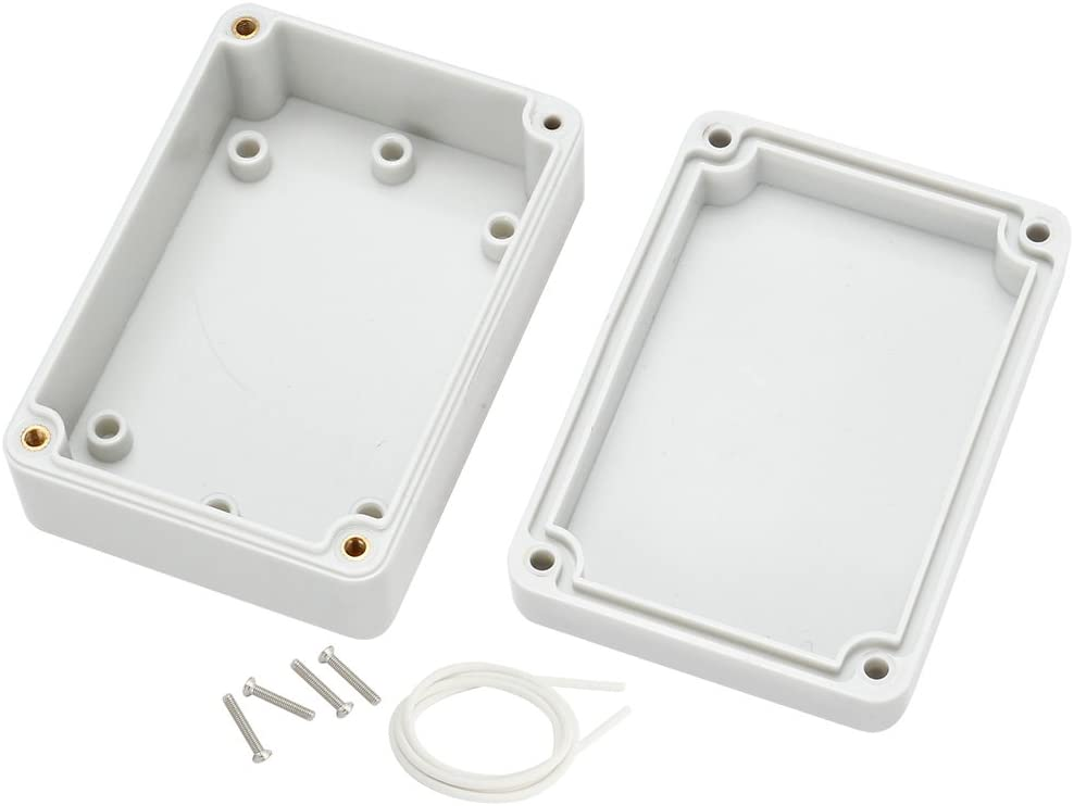 sourcing map ABS Plast Bo/îte d/érivation Universel Project Enclosure 84mmx58mmx35mm