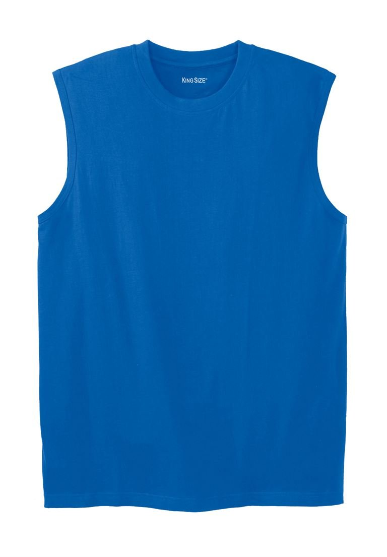 KingSize Men's Big & Tall Lightweight Cotton Muscle Shirt, Royal Blue Big-2Xl