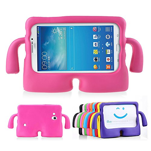 Lioeo Galaxy Tab 3 7.0 Case Kids Tab 3 Lite Case Full Protection Cases Cover with Handle for Samsung Galaxy Tablet 3 /3 Lite 7 Inch (Hot Pink) (Tablet Covers For Kids compare prices)